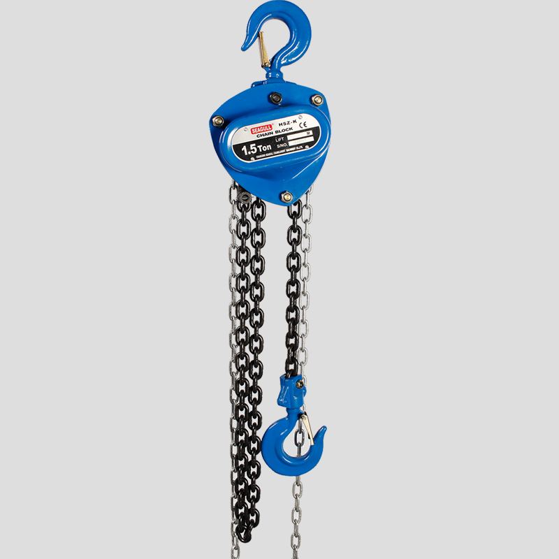 ficiency Light Duty Manual Chain Block , 1.5 Ton Chain Hoist